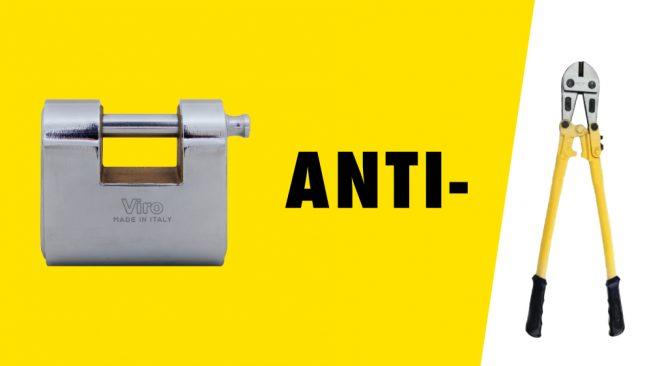 cadenas anti-coupure, arceau anti-coupure, cadenas anti-cisaillement, tige anti-coupure, cisaille, coupe-fil